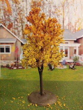 TREE-PREMADE 6.5'' AUTUMN YELLOW 2PC