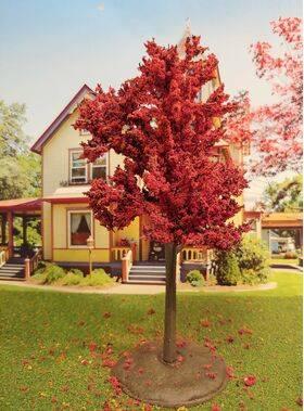 TREE-PREMADE 6.5'' AUTUMN RED 2PC