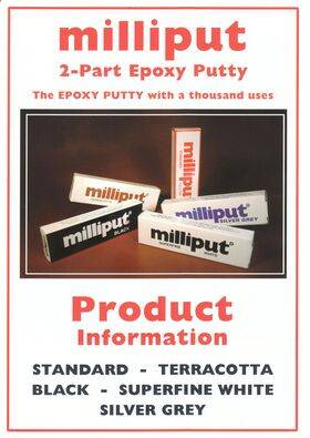 MILLIPUT EPOXY SILVER/GREY 4OZ. MEP-2