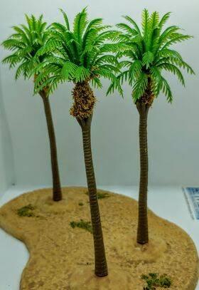 TREE-PALM 5.5'' 140mm TALL PLASTIC 5pc