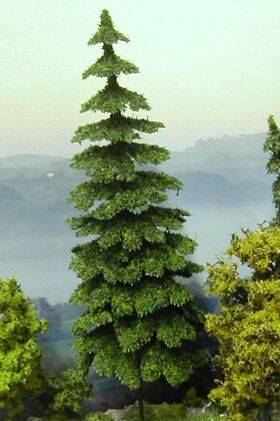 "TREE DOUGLAS FIR CONIFEROUS 5.75"" TALL 4pc TSDF-15"
