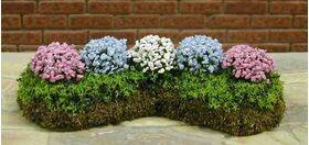 GARDEN DELIGHTS W/BED Pink-Blue-White Small