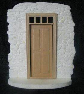 Fairy House Kit Stone with transom door
